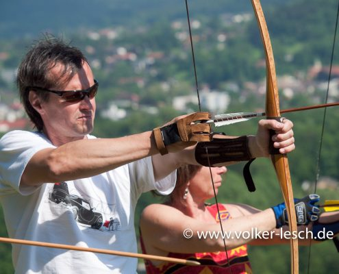 Bogenschießen mit Jürgen Purtz © Volker Lesch
