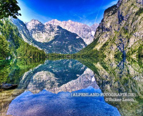 Königssee - Obersee © Volker Lesch Alpenland Fotografie