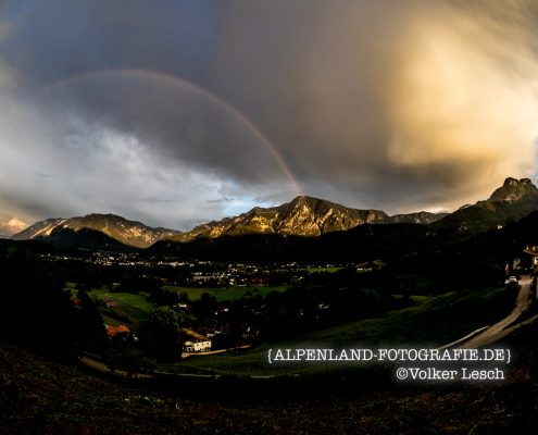 Regenbogen über dem Predigtstuhl © Volker Lesch Alpenland Fotografie