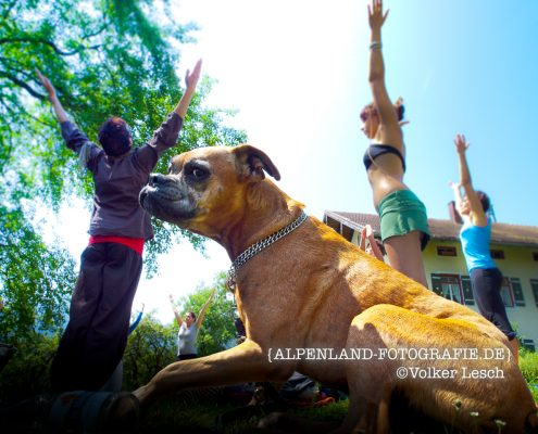 Yoga am Mountainfloat © Volker Lesch